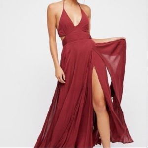 Free People Lille Maxi Dress in Mahogany